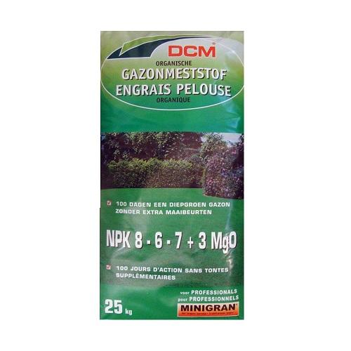 Fertilizant pentru gazon NPK 8-6-7+3 MgO DCM 25kg