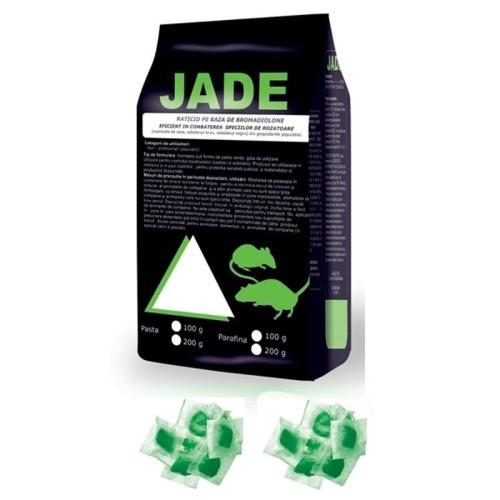 Raticid pasta pe baza de Bromadiolone pentru deratizare (Jade 10kg/plic 5gr.)