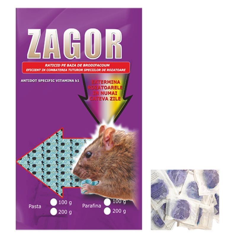 Raticid pe baza de Brodifacoum pentru deratizare (Zagor 200gr)