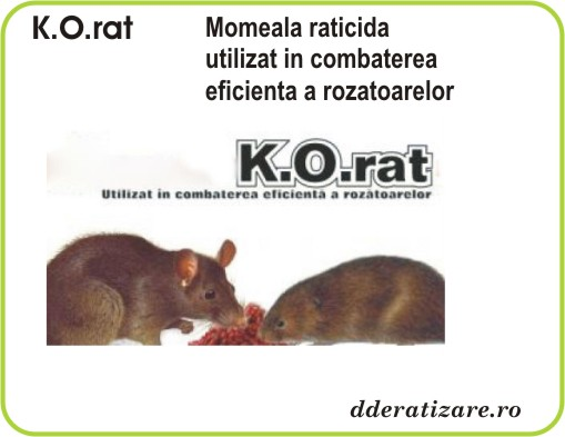 Momeala raticida anti soareci si sobolani - K.O.Rat