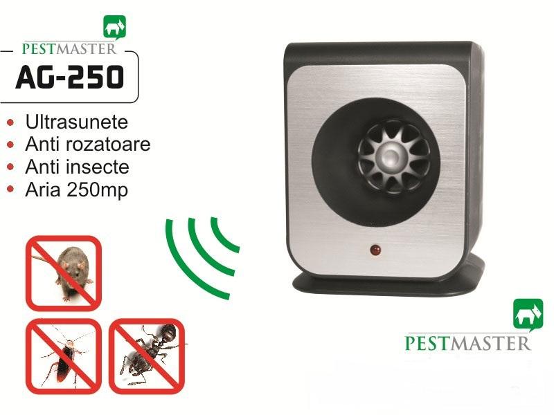 Aparat cu ultrasunete impotriva soarecilor, gandacilor si altor insecte taratoare - Pestmaster AG250