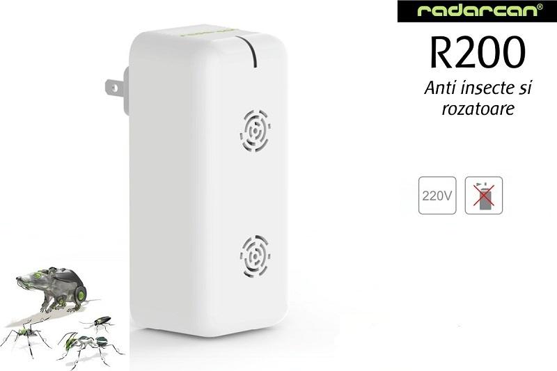 Radarcan R200 aparat cu ultrasunete anti gandaci, tantari, furnici, soareci, muste
