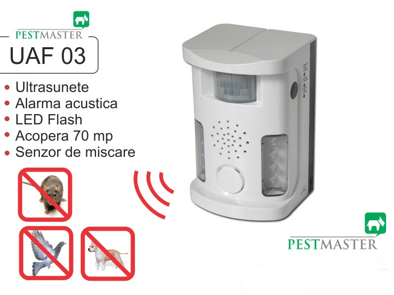 Bird Ultrasound Repeller Pestmaster UAF03 (anti pasari, anti rozatoare, anti animale)