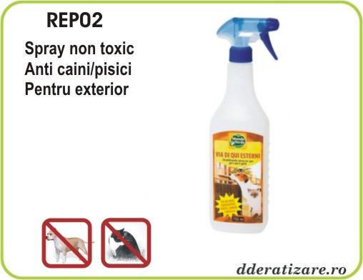 Spray ecologic impotriva cainilor si pisicilor pentru exterior - REP02 (750 ml)