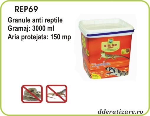Granule anti serpi, soparle, gusteri si reptile - REP69 (3000 ml)
