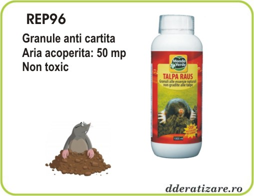 Granule ecologice anti cartita, soareci de camp si arici - REP96 (1000 ml)