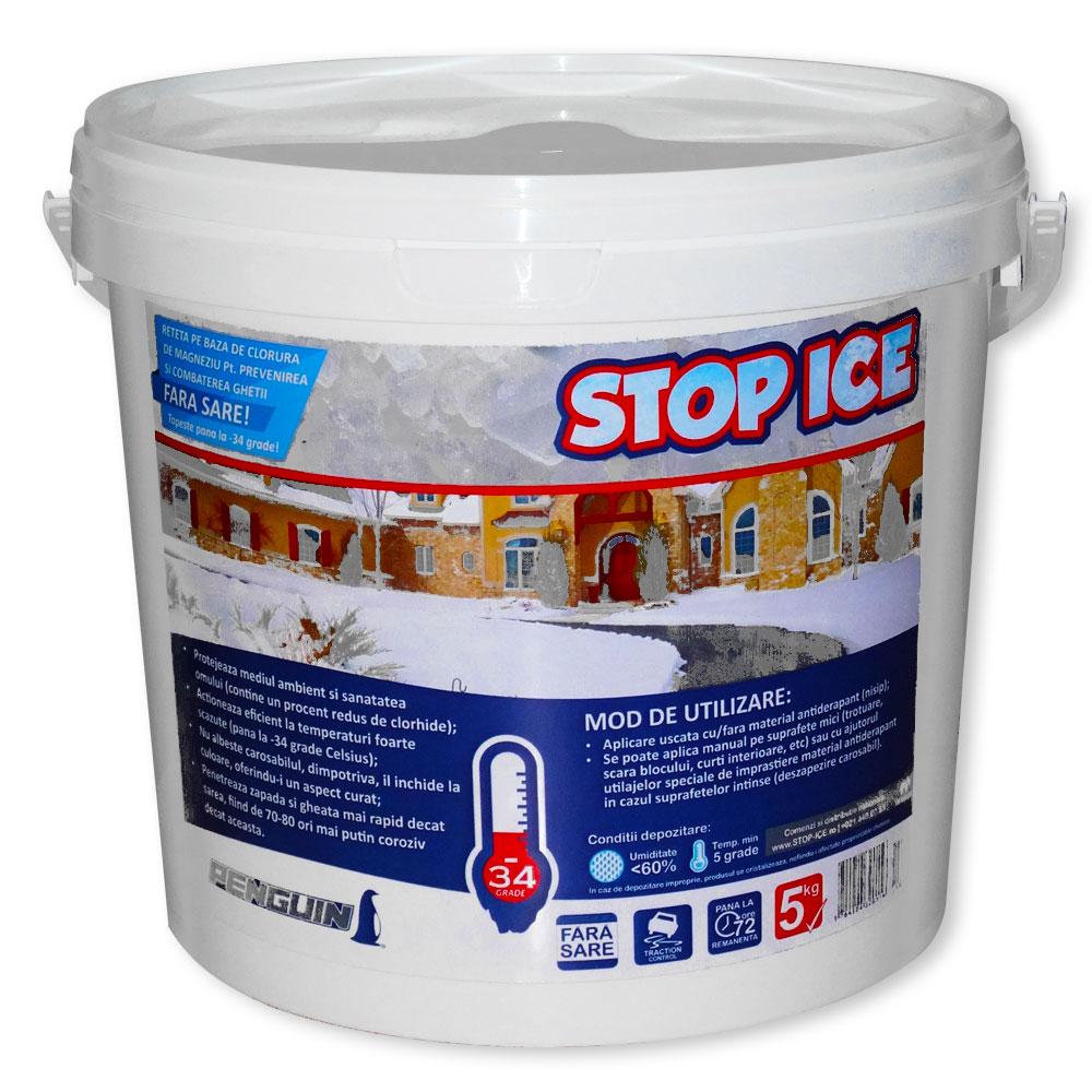 Produs biodegradabil pentru prevenirea si combaterea ghetii (Penguin STOP ICE 5kg)